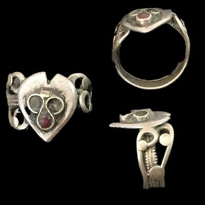 Rare Top Quality Silver Post Medieval Bedouin Ring (21)