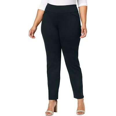 Charter Club Womens Cambridge Slim Leg Waist Smoothing Pants Plus BHFO 6110