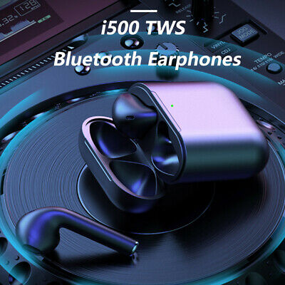 i500 TWS Wireless Bluetooth Earbuds Touch Control In-Ear Detection Superbass New