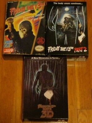 Friday the 13th Jason Voorhees NECA Figure Lot GameStop Exclusive and Part 2 & 3