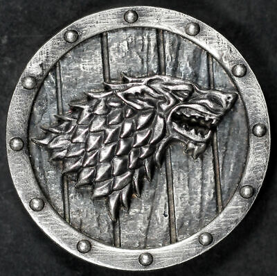 Game of Thrones House Stark Wolf Theme 1.8 oz .925 Sterling Silver Round #11/50