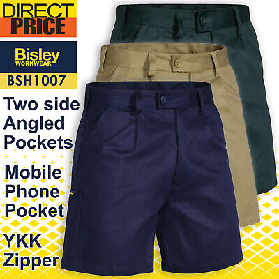 Bisley Workwear Original Cotton Drill Mens Work Shorts BSH1007 NEW