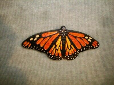 Hand Carved MONARCH BUTTERFLY Wall Art Chainsaw Wood Carving Cabin Unique