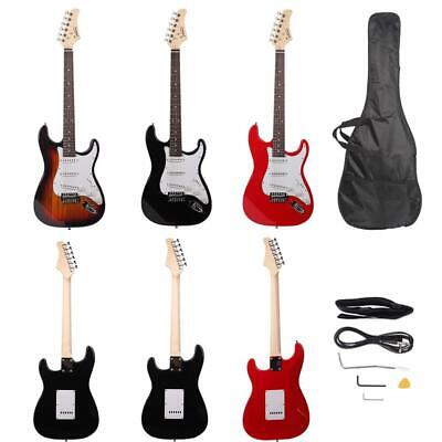 New 3 Colors Right Handed School Student Electric Guitar w/ Bag & Accessories