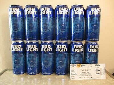 (12) POST MALONE 2019 Special Edition Bud Light Cans! EMPTY! + Tour VIP Ticket!