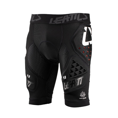 Leatt 3df 4.0 Mx Motocross And Enduro Impact Mens Body Armour Shorts - Black