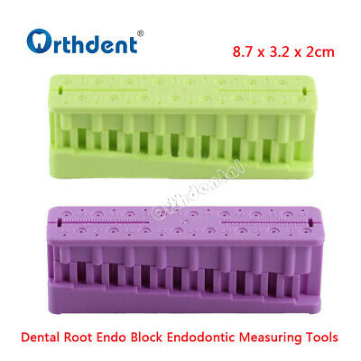 Dental Root Endo Block Endodontic Measuring Tools Holder Ruler Autoclavable