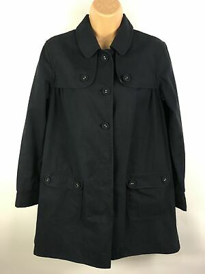 Girls Jigsaw Junior Navy Blue Cotton Lightweight Popper Button Up Coat Age 12-13