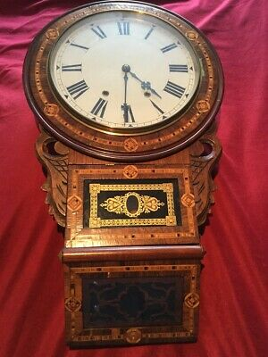 Antique 19Th Century Anglo American Wall Clock