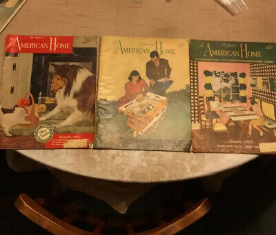 LOT OF 16 ANTIQUE MAGAZINES From 1944-1966 The American Home, McCall's, And LOOK