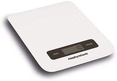 Morphy Richards Accents 5KG Digital Touch Screen Kitchen Scales White
