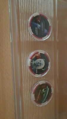 Star Trek Poker Chips From Las Vegas Hilton 2006 - Set Of 3