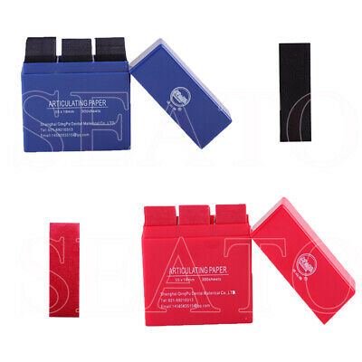 Dental Red & Blue Articulating Paper Strips Biting Paper Whitening Double Side