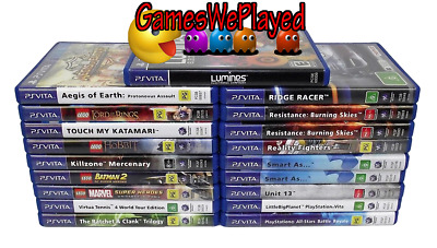 Sony PS Vita Games Dropdown Selection & Memory Cards