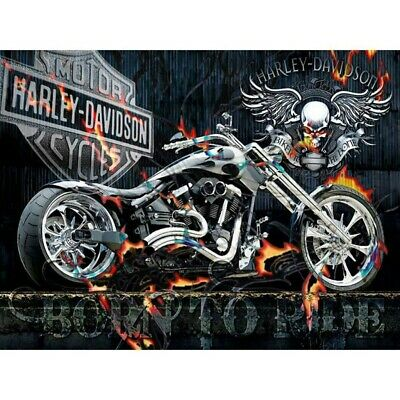 5D Cool Motorcycle Full Drill Diamond Painting Kits Embroidery Home Art Decors