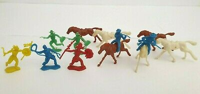 Kellogg's Cereal Toy, Wild West Figures, Circa 1959, cow boys and Indians,Horses