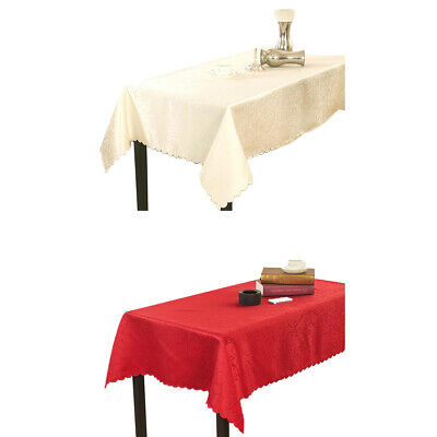 Rectangle Wedding Party Tablecover Table Cover Cloth Polyester Tablecloth Home