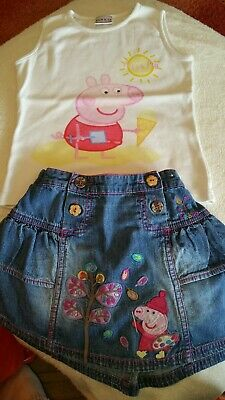 Peppa Pig clothes bundle 2 outfits, 2 hats, sweatshirt, pajamas from 18m - 4yrs