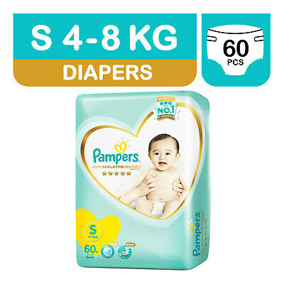 P&G Pampers Premium Care 5-stars Diapers Small (Size 2, S) 60 Nappies (4 to 8kg)