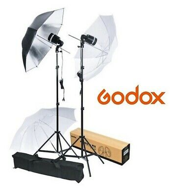 Kit 2 Flashes De Estudio Portátiles Godox Sy8000-F 72W