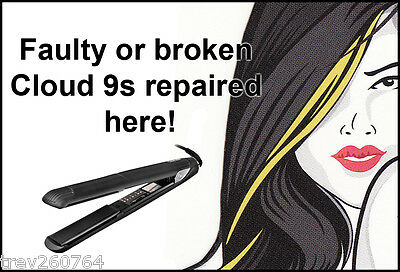 Cloud Nine C9 hair straighteners repair service broken/faulty for **The Touch**