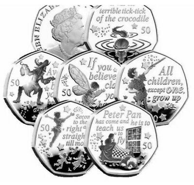 UNC Peter Pan 50p Set From IOM Bags