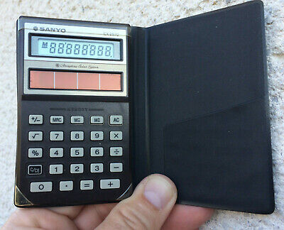 Vintage Solar Calculator SANYO CX 2570 - Made in Japan - Tested