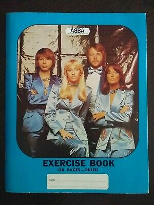 ABBA Original Reg Grundy Productions Blue Exercise Book Australia Only 1976 / 77