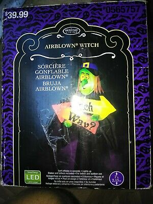 Halloween 7ft Light Up Sit a Spell Witch Air Blown Inflatable - Spooky!!!