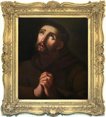 Saint Francis Antique Old Master Oil Painting after Guido Reni (1575-1642)