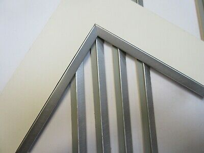3.5m Bundle of Silver Wooden Mount Fillet Trim Picture Frame Moulding - 16x7mm