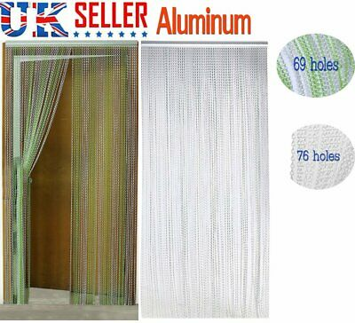 Aluminium Metal Chain Link Insect Fly Door Curtain Blinds Screen Pest bQ