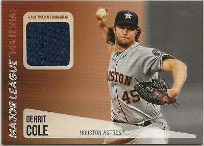 2019 Topps Update GERRIT COLE Major League Material Relic Astros Jersey Black