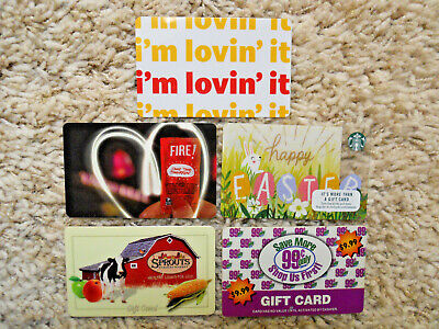 Gift Cards, Collectible, five new cards, no value on cards               (C-10)