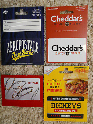 Gift Cards, Collectible, new, unused cards with backing, no value on cards (F-4)