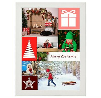 Personalised Photo Collage Poster Print A4 Christmas, xmas gift