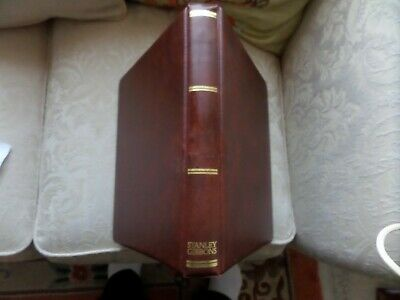 STANLEY GIBBONS BROWN STAMP ALBUM with 45 clean fly leafed sheets