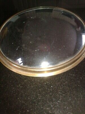 Antique wheel barometer brass bezel and convex glass spares/parts