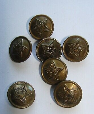 Vintage Russian Metal Military Buttons Star 1940-1970th USSR Soviet  1,3 cm