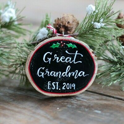 Personalized Christmas Ornament Great Grandma Custom Hand