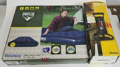 Bestway Pavillo Airbed Camping Single Bed Inflatable 22Cm With Pump Bnib
