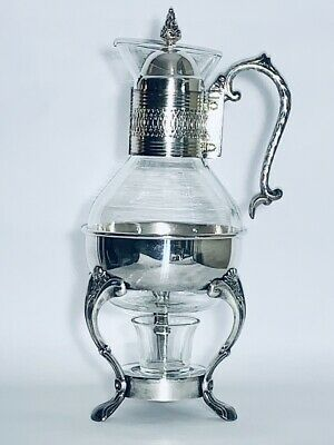Fabulous Vintage Silver plated Carafe For Coffee Or Tea Warmer For Collector