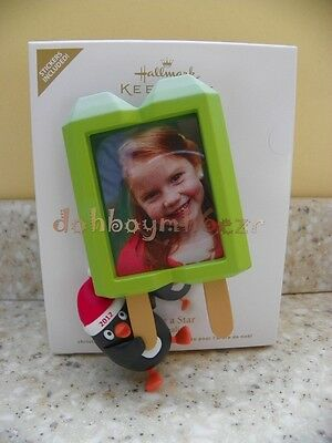 Hallmark Photo Holder Ornament You/'re a Star 2012 Popsicle Penguin Personalize