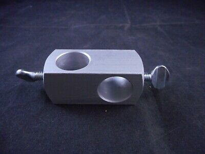 Laboratory Aluminum Rod Clamp Perpendicular Accepts 18mm OD Rods 1/PACK