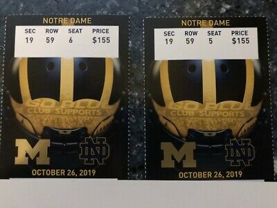 University of Michigan vs Notre Dame Tickets