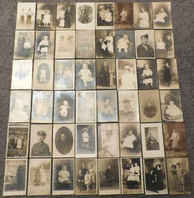 Real Photo Post Cards Lot (48) 1900