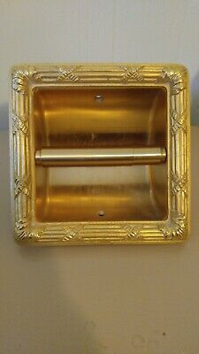 Sheryle Wagner 24ct Gold Tissue Holder Vintage 1960's Bathroom Hardware