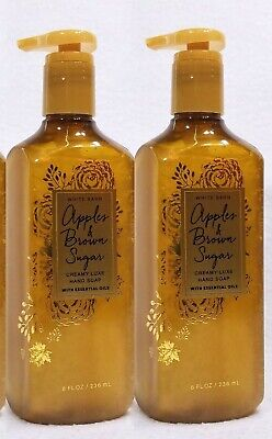 2 Bath & Body Works APPLES & BROWN SUGAR Creamy Luxe Gel Hand Soap