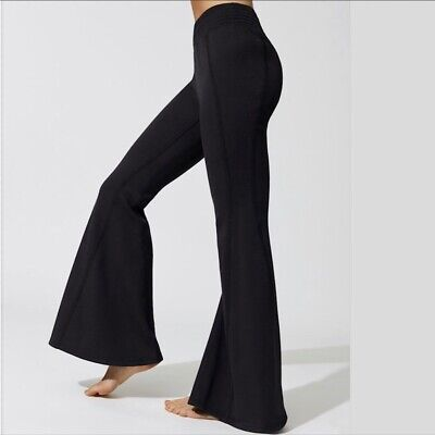 Free People Movement Attitude Flare Sweatpants Black XSmall XS $98 NWT OB674993
