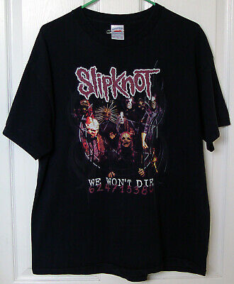 Vintage Tennessee River Slipknot Band Tee 2004 Duality Tour Concert T-Shirt XL